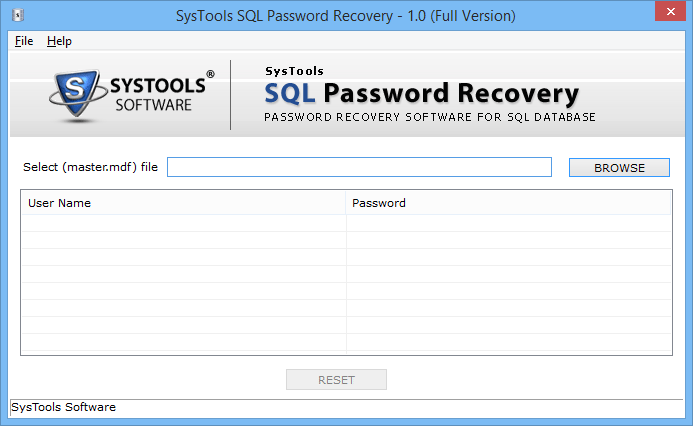 SQL Password Recovery Tool